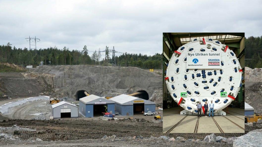 Herreknecht skal etter all sannsynlighet levere TBM-ene som skal drive Follobanen. Innfelt er TBM-en som samme firma har levert til Skanska og som skal drive Ulriken-tunnelen.