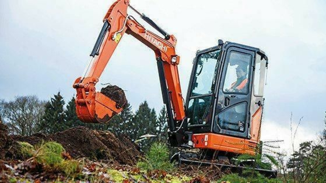 Hitachi ZX26U-5 på 2,7 tonn.
