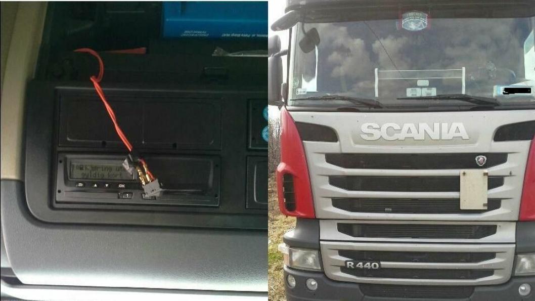 Med bryteren kunne sjåføren koble ut fartsskriveren.