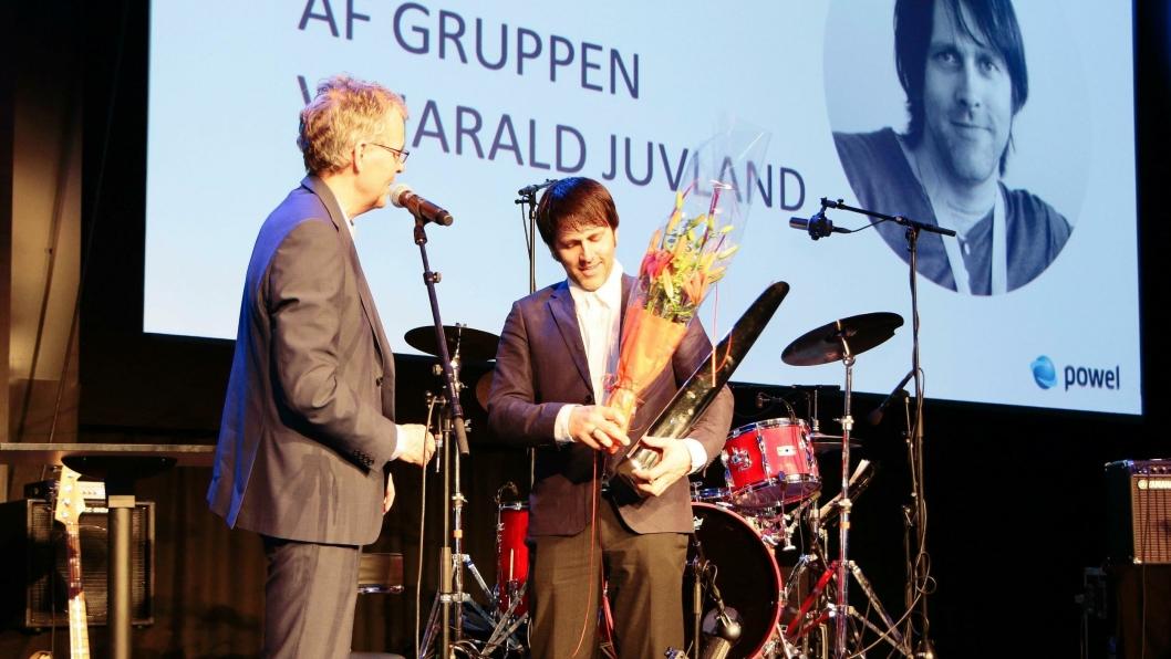 Harald Juvland og AF Gruppen mottar Årets innovasjonspris.