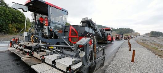 Skal legge 2,3 millioner tonn asfalt