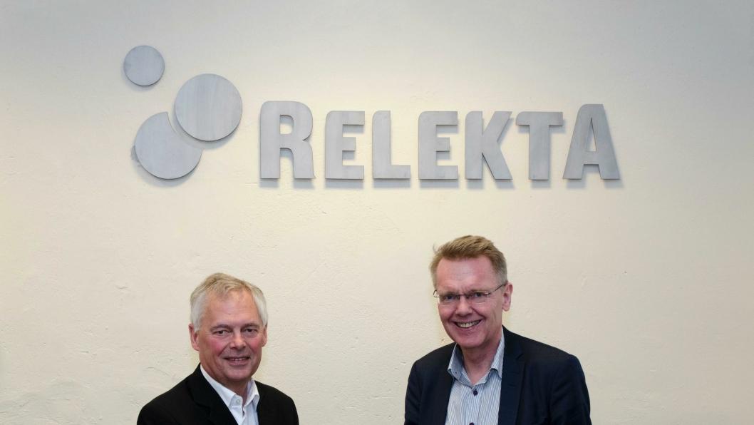 Til venstre: Johnny Alvarsson, Indutrade – til høyre: Rune Arnhoff, Relekta.