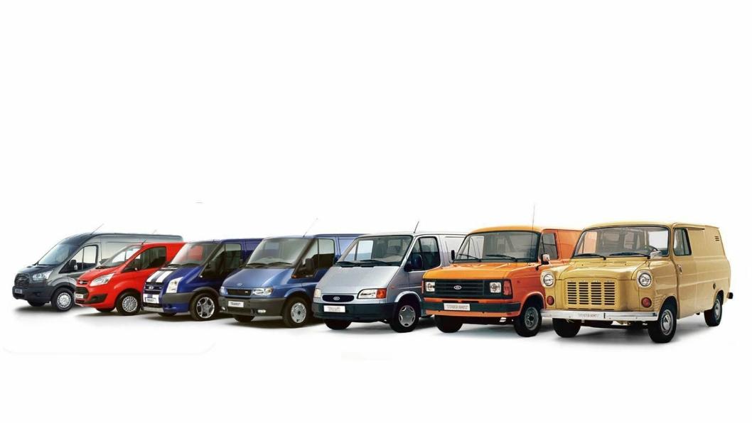 Femti års utvikling av Ford Transit.