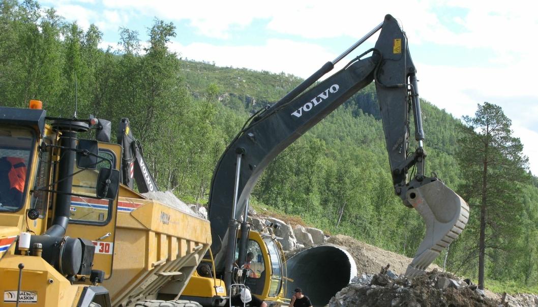 Målselv Maskin & Transport AS ble startet i 1967 og er idag Troms største maskinentreprenør. Dette bildet er fra en reportasje Anlegg&Transport gjorde om selskapet i 2007.