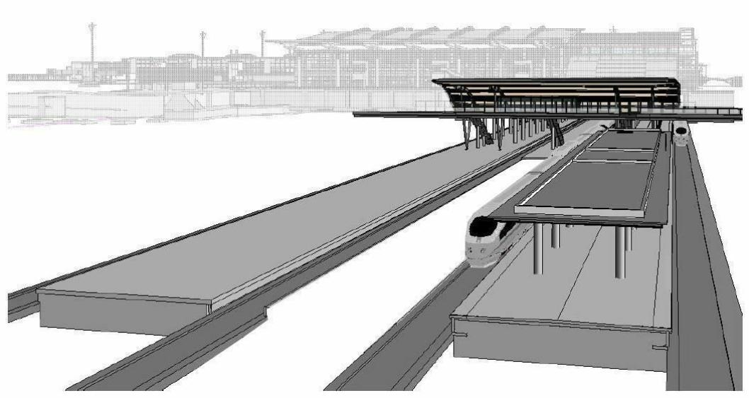 Peab skal forlenge taket på søndre plattform og etablere fordrøyningsbasseng under plattform 1 og 3.