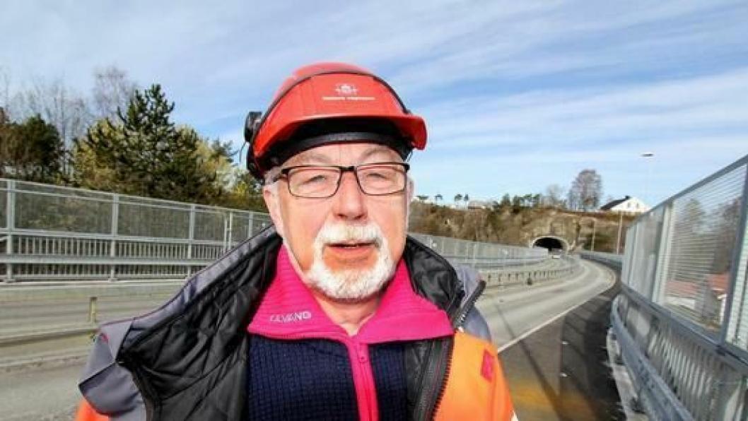 Jan Arvid Førland er byggleder for rehabiliteringen av Breviksbrua.