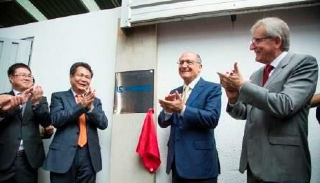 NY FABRIKK SKAL BYGGES: LiuGong skal bygge ny fabrikk i Brasil. Her fra kunngjøringen.