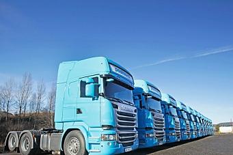 Fikk levert 12 nye Scaniaer