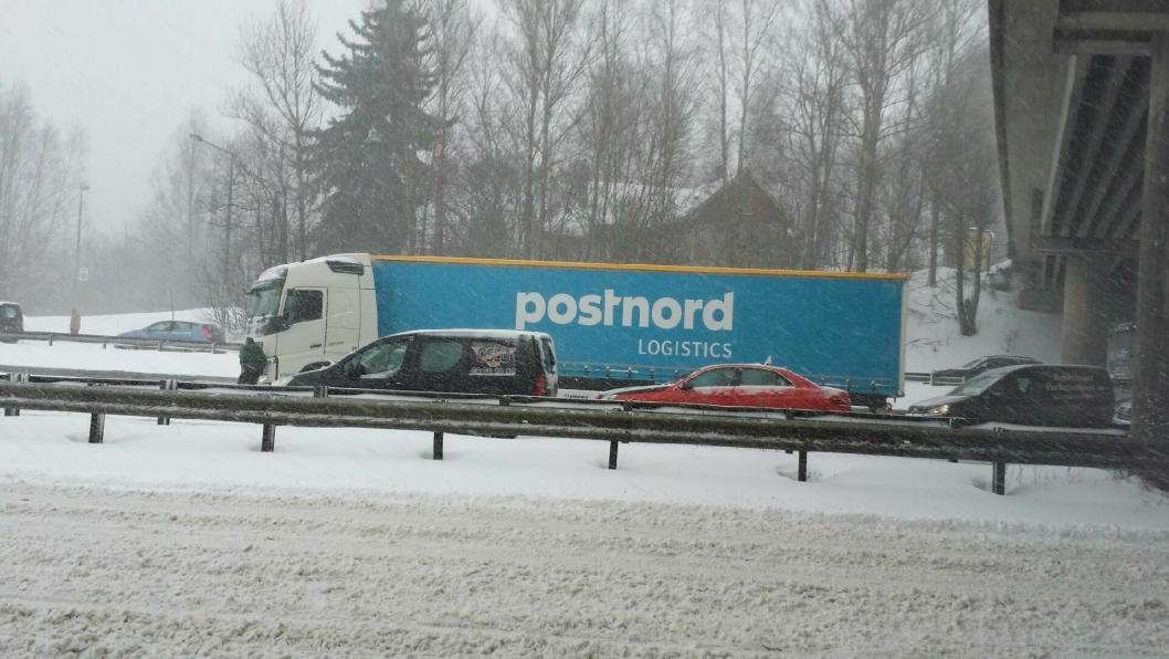 Dette vogntoget kom seg ikke av flekken ved Alnabru tidligere torsdag.