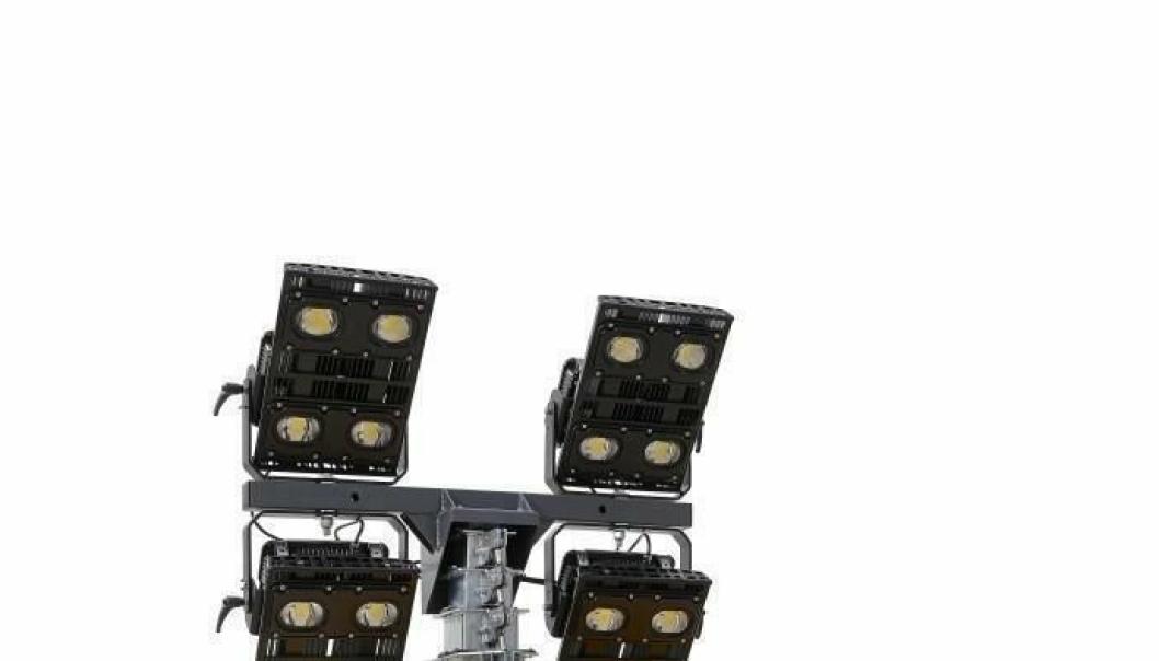 NYHET: Lystårnet QLB 60 med nyskapende LED-lys bruker spesialoptikk for å gi høy lysstyrke fra en liten standflate.