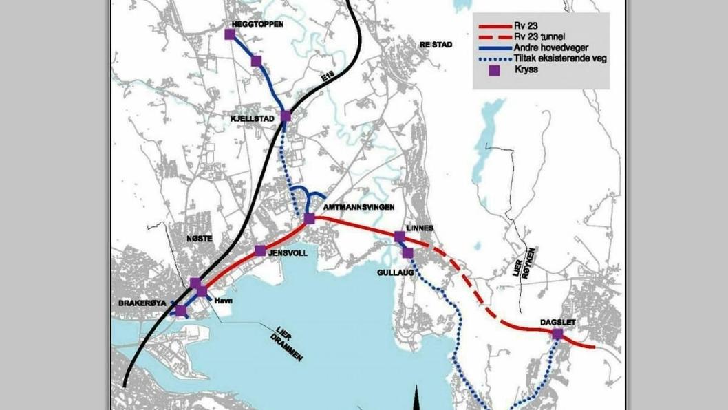 Den nye veistrekningen gir mindre trafikk for beboerne langs dagens riksvei 23 mellom Linnes og Dagslet. Den nye strekningen sparer tid for de veifarende.