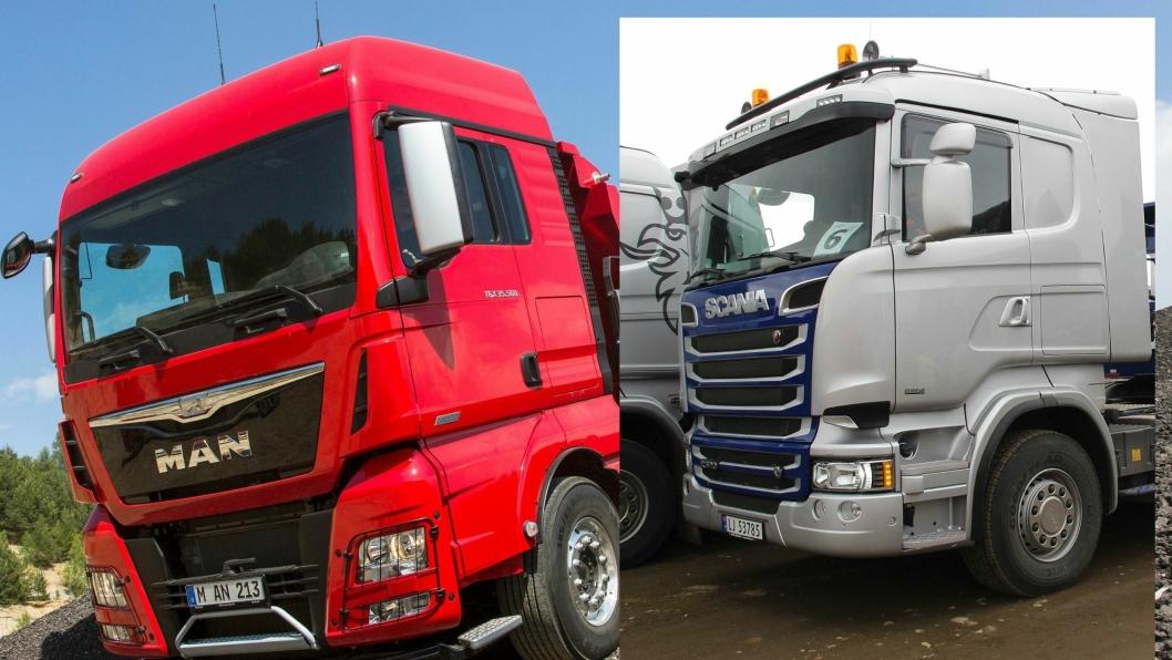 MAN og Scania skal bygges likt men skal blant annet ha forskjellig front, logo og interiør.