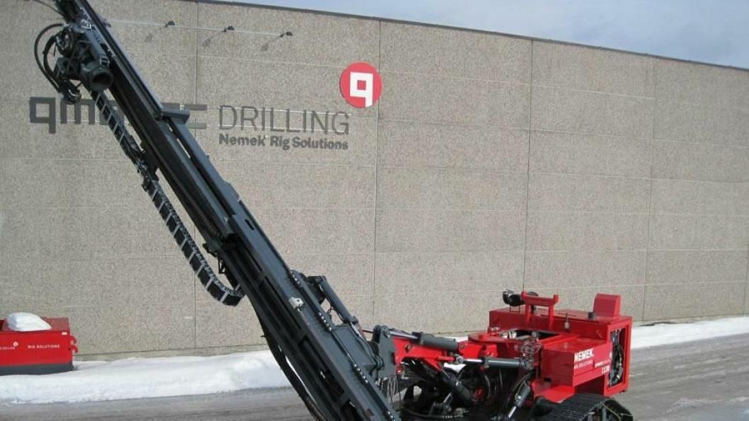 STØRSTEMANN: Fundamenteringsriggen 1130 er den største Vinje-bedriften Qmatec Drilling produserer.