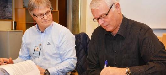 Signerte storkontrakt med Skanska