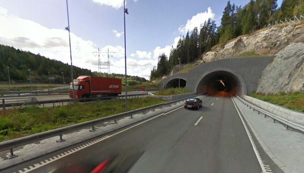 Nøstvettunnelen på E6 syd for Oslo er en av tunnelene som nå får DAB-dekning.