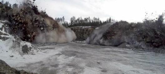 Sprengning i Valdres
