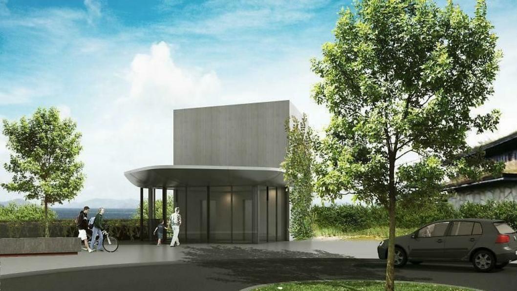 90 prosent av Holmestrands befolkning bor på toppen av fjellet, dit heisen går fra jernbanestasjonen 70 meter nedenfor.
