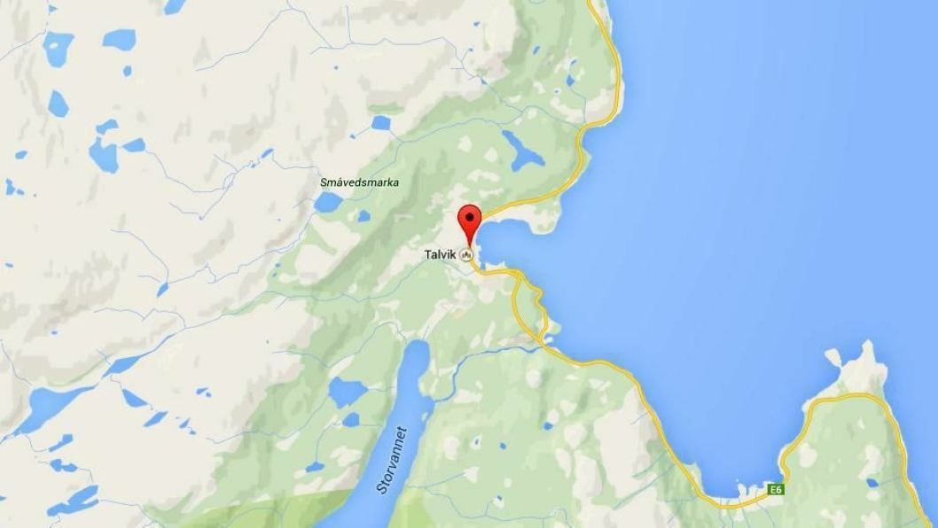 Talvik ved E6 mellom Alta og Burfjord.