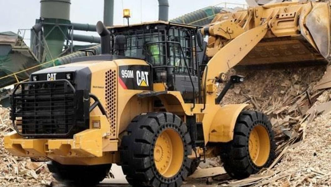 Cat 950M med Flexport-hjul. I den nyinngåtte avtalen (under) var det en 966M som ble solgt med slike dekk.