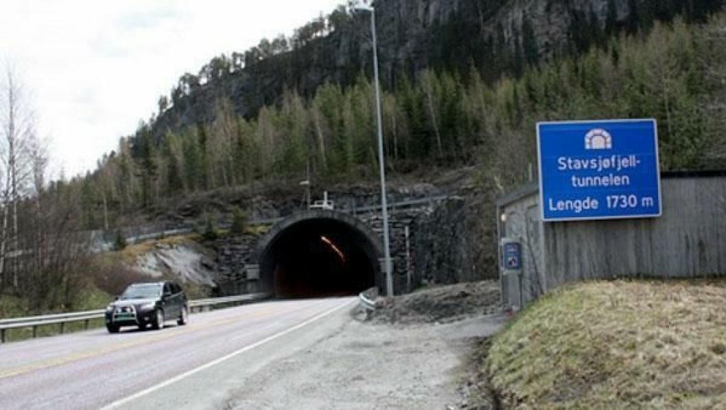 Stavsjøfjelltunnelen på E6 i Hommelvik er en av tunnelene som utbedres for å møte nye sikkerhetskrav og fornye eldre teknisk utstyr.