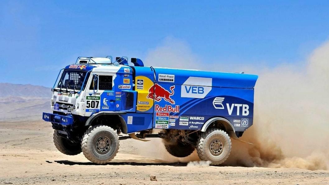 Vinnerbilen i lastebilklassen av Dakar 2015.