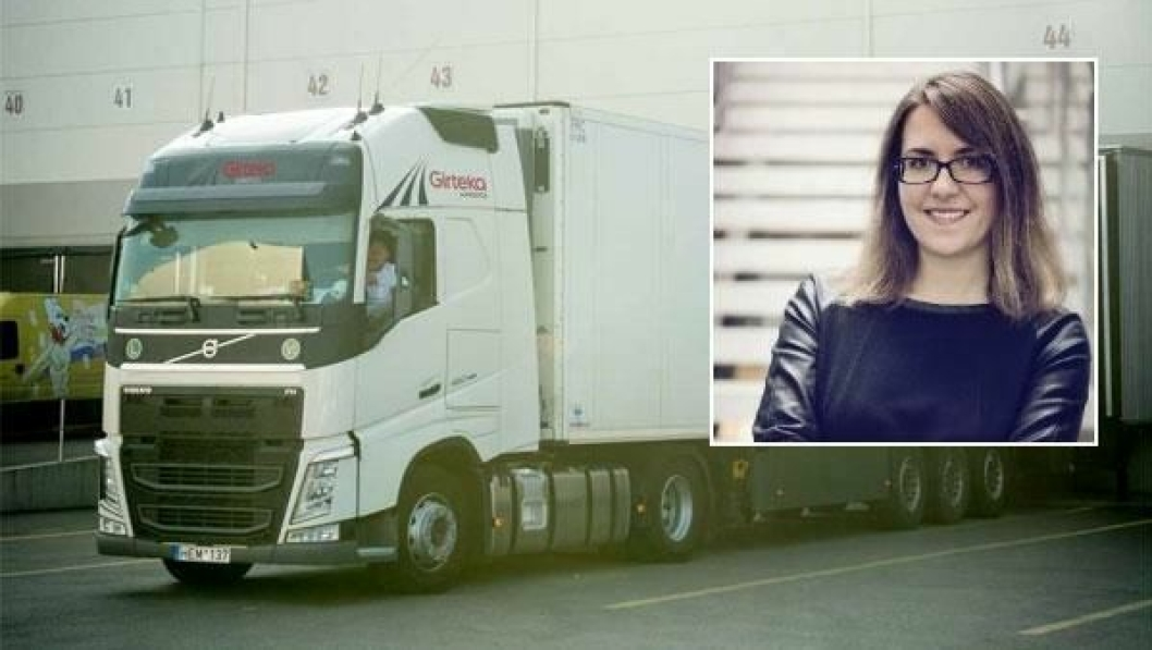 Girtekas PR-medarbeider, Laura Tyrylyte (innfelt), beklager at sjåføren deres ikke ble hentet hjem tidligere.