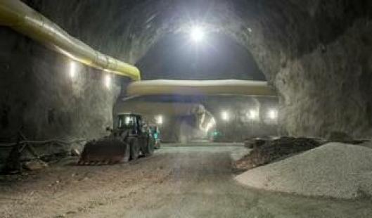 :En tredjedel av massen som drives ut skal gjenbrukes til blant annet tilslagsstoffer i betongproduksjon.