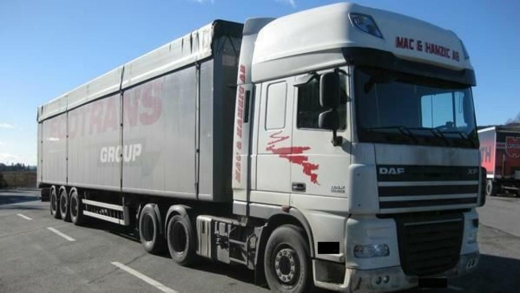 Denne lastebilen kan nå kjøres videre etter at magneten er fjernet. Men ikke av sjåføren som kjørte den med magnet...