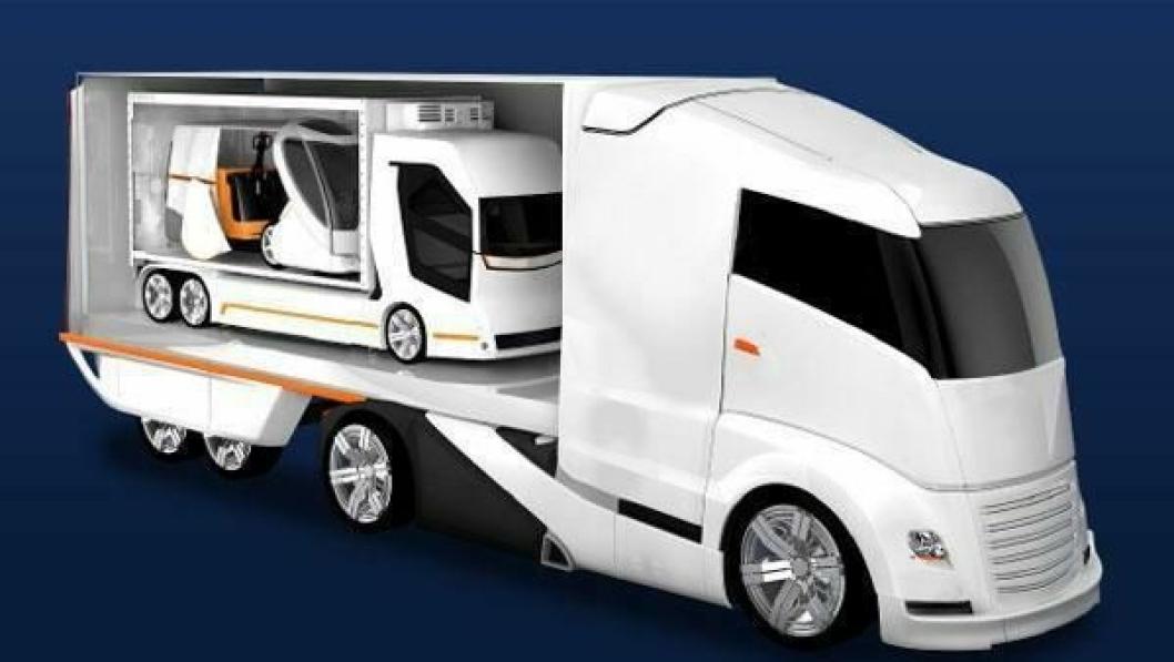 Fremtidsbilene er valgt som symbol for Solutrans 2015.