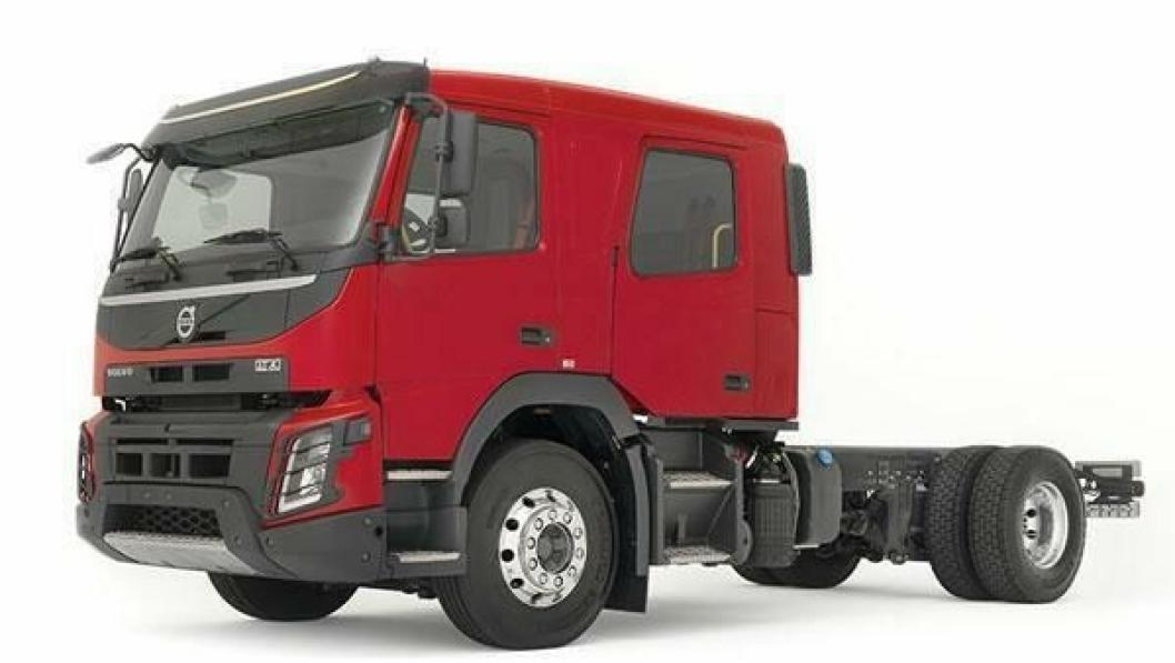 Volvo FMX Crew Cab er egnet for tyngre oppgaver og kan også leveres med allhjulsdrift.
