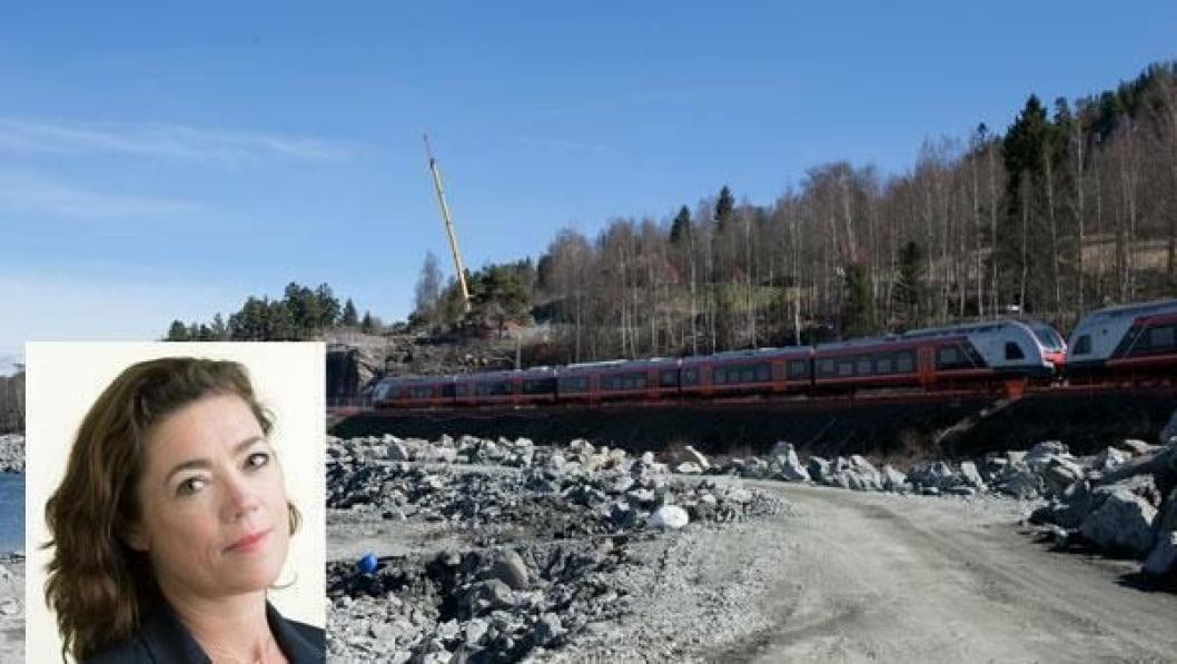 NHO-direktør Kristin Skogen Lund er krystallklar på at det må satses på utbygging av vei og bane i Norge.