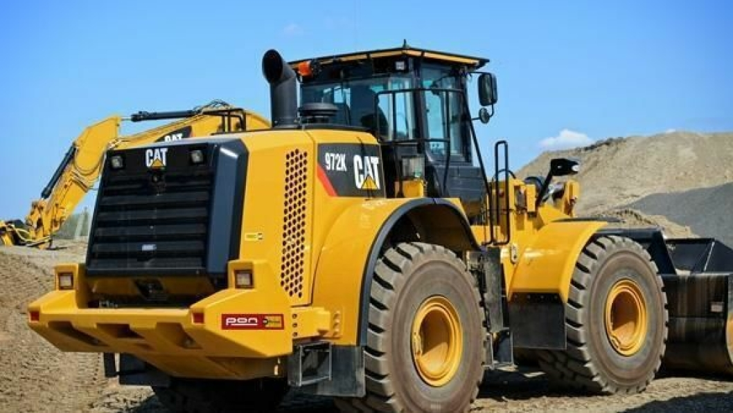 Cat 972K hjullaster kan leies av Pon Rental Norway.