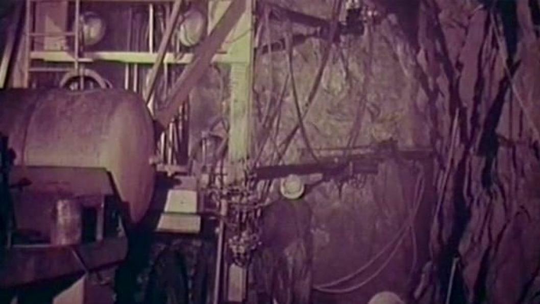 Slik så tunneldriving ut i 1962.
