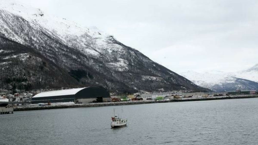 Tre truckstop planlegges i Narvik-regionen. Blant annet her på Fagernes i Narvik Havn.