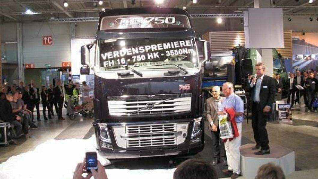Glimt fra Transport 2011 hvor Volvo hadde verdenslansering av FH16 med 750 hk.