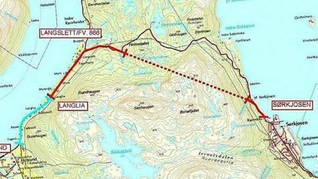Tunnelen vil både forkorte og forbedre E6 gjennom Nord-Troms betydelig.