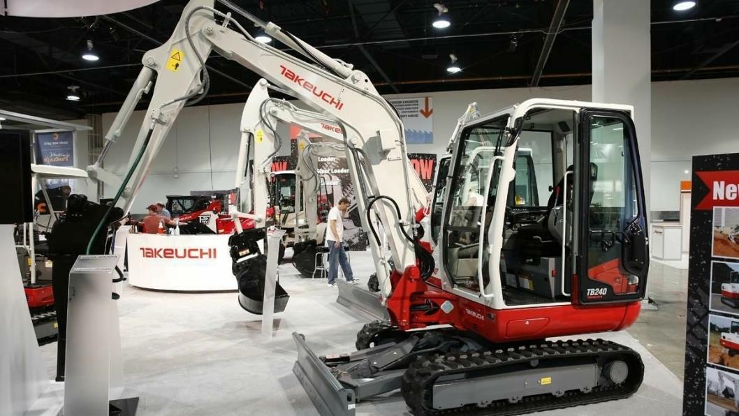 Takeuchis TB240 startet rekken av nye maskiner fra japanske Takeuchi på Conexpo.