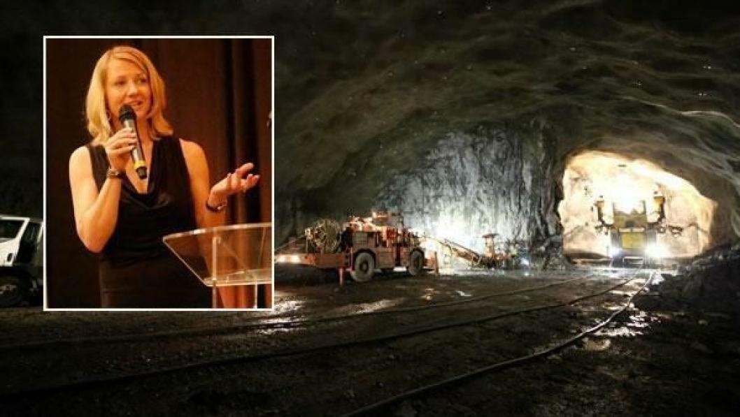 BEKYMRET: Heidi Berg liker ikke utviklingen i anleggsbransjen. Her er NFF-formannen fra World Tunnel Congress i Brasil tidligere i år.