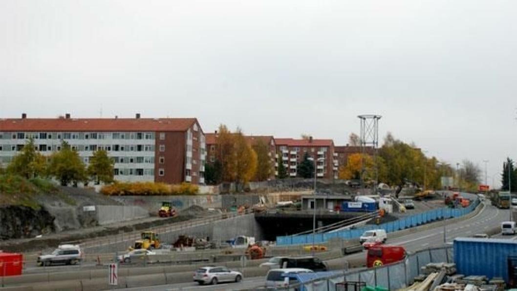 Lørentunnelen på Ring 3 i Oslo.