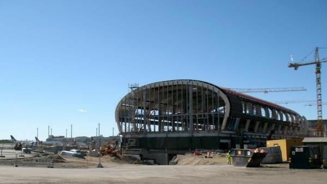SSAB/Ruukki har blant annet levert stålkonstruksjonen til det nye terminalbygget som bygges på Gardermoen.