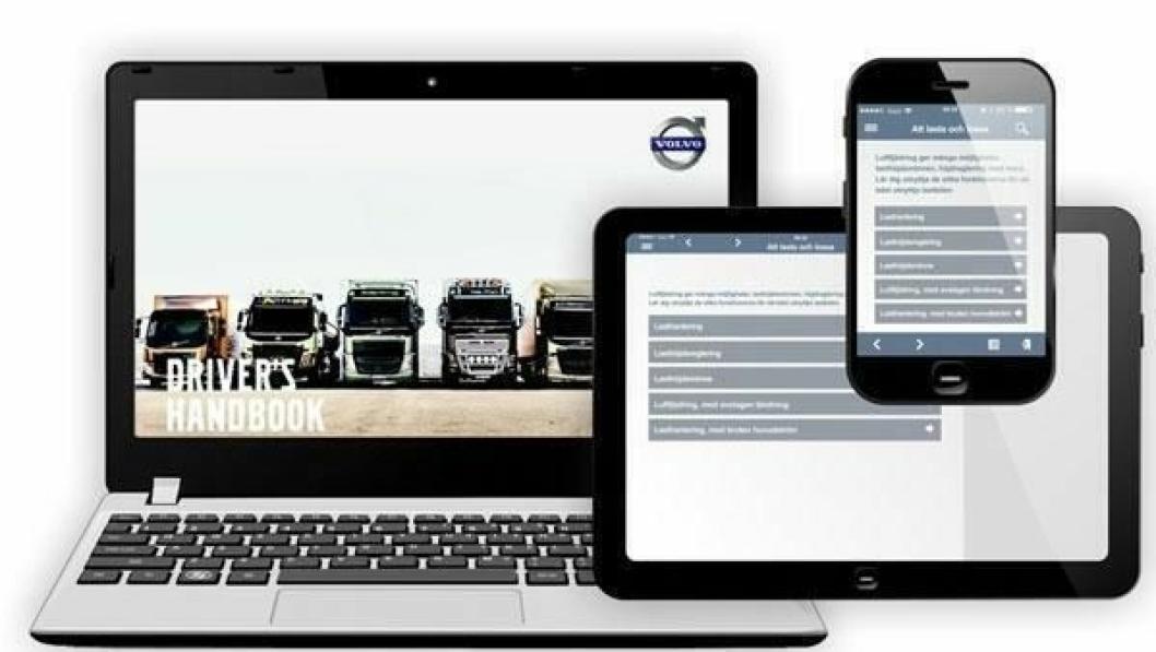 Volvo Trucks sine nye digitale sjåførhåndbøker finnes for web, smarttelefoner og nettbrett.