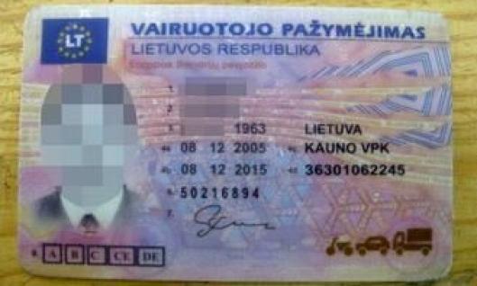 Da litaueren ble fratatt førerkortet på grunn av promillekjøring i Sverige, kjøpte han dette så han hadde noe å vise i kontroller. Det ble avslørt av kontrollører fra Statens vegvesen i kontroll onsdag 12. mars.