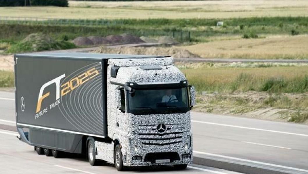 Mercedes-Benz Future Truck 2025 er et av de førerløse konseptene det jobbes med.