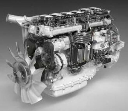 Den nye Scania 12,7 liters DC13 147 klarer Euro 6-kravet kun ved hjelp av fast turbo og SCR-katalysator.