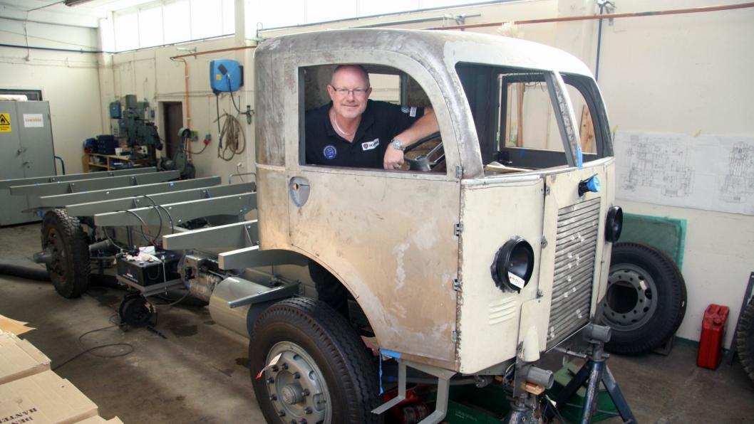 Robert Bengtsson ser frem til å stille ut denne bilen ved Scania fordonsmuseum.