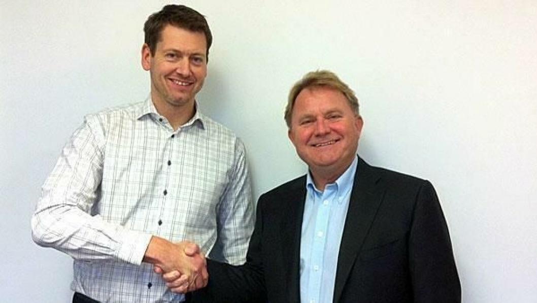 Salgsdirektør Gunstein Lauvrak, Ramirent (til venstre), og bransjedirektør Yngve Torkildsen, Norsk Utleieforening.