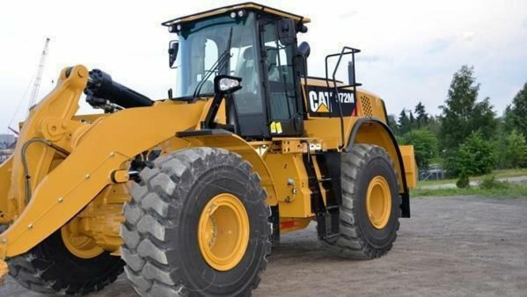 Denne 972M-en er solgt til G. Holth Grusforretning AS.