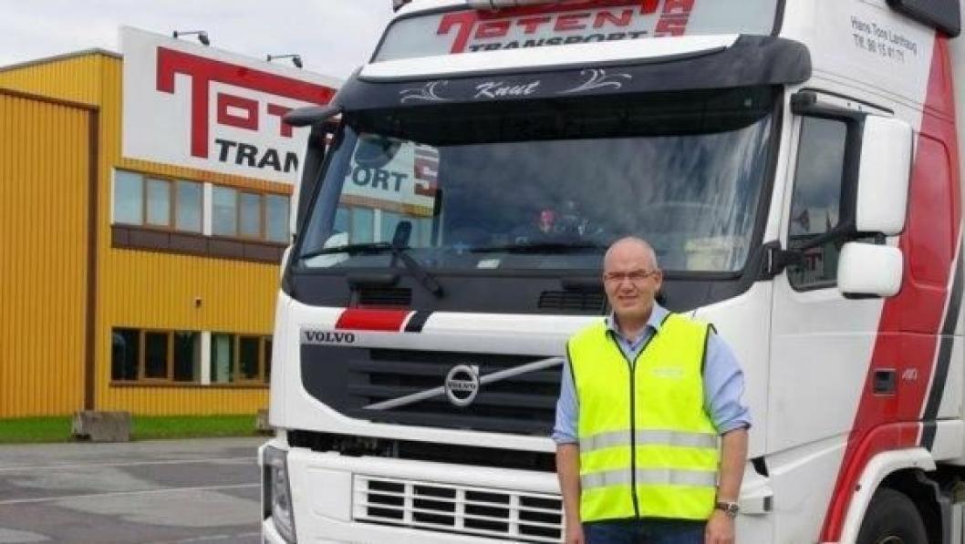 Roy Jakobsen er uenig med styret i Toten Transport.