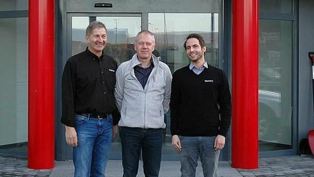 Heatwork rigger seg for fremtiden og styrker sitt lederteam. Fra venstre styreleder Almar Markussen, Børre Simonsen og Reidar Schille.