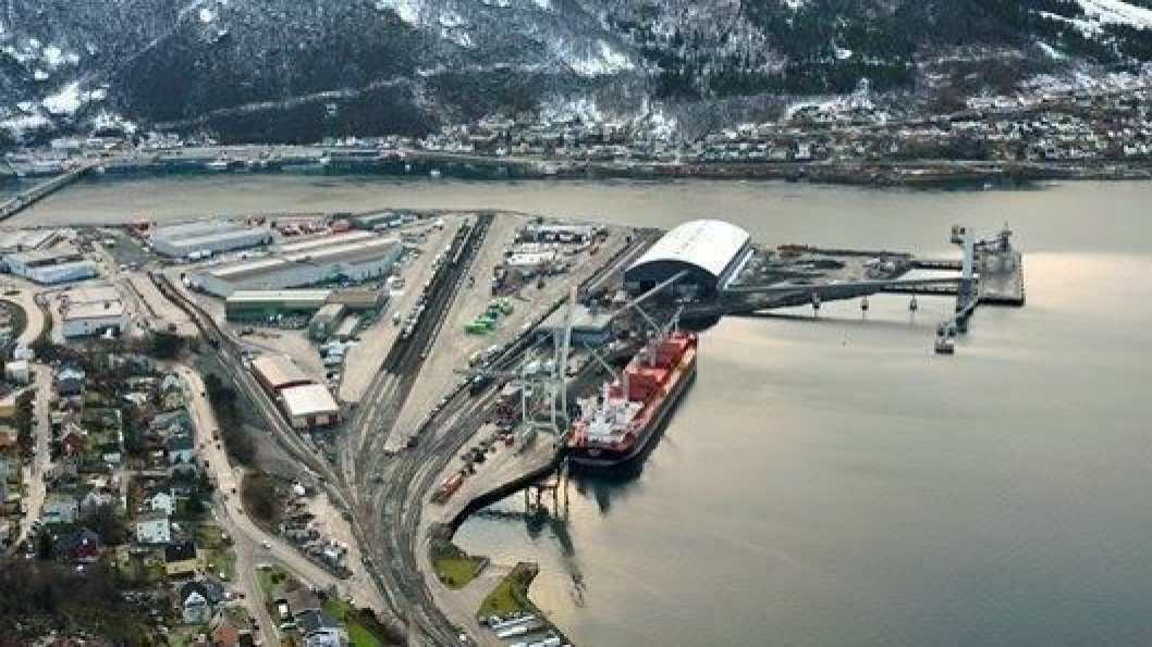 Den moderniserte og utvidede terminalen på fagernes i Narvik.